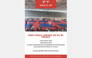 Demi finale juniors en Île de France
